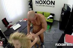 Чувственный секс с секретаршей в офисе